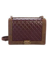 b158b6382962 Lyst - Chanel Paris-edinburgh Mini Highlander Messenger Bag Navy in ...
