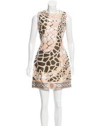 Class Roberto Cavalli - Linen-blend Printed Dress W/ Tags - Lyst