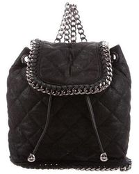 7dcf1e6d2480 Lyst - Stella Mccartney Falabella Small Shaggy Deer Backpack in Black