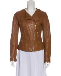 1f0abb11d Lyst - Michael Michael Kors Michael Kors Leather Quilted Jacket ...
