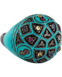 M.c.l  Matthew Campbell Laurenza - Multicolor Sapphire & Enamel Ring Silver - Lyst