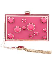 Elie Saab - Studded Box Clutch Pink - Lyst