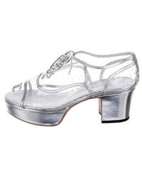 Chanel - 2016 Perforated Pvc Oxfords Clear - Lyst
