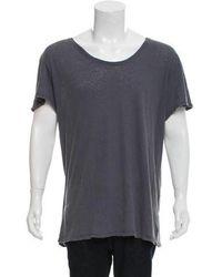 Greg Lauren - Slouchy Crew T-shirt W/ Tags Blue - Lyst