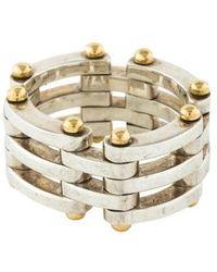 Tiffany & Co. - Two-tone Gatelink Ring Yellow - Lyst