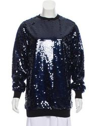 Carven - Sequined Long Sleeve Sweatshirt W/ Tags - Lyst