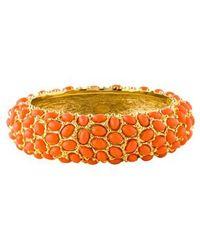 Kenneth Jay Lane - Resin Cabochon Bracelet Gold - Lyst