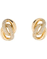 Dior - Crystal Double Link Earrings Gold - Lyst