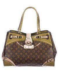 Louis Vuitton - Python & Alligator Monogramissime Exotic Shopper Gm Brown - Lyst