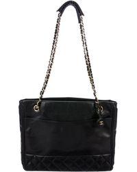 Chanel - Vintage Quilted Shoulder Bag Black - Lyst