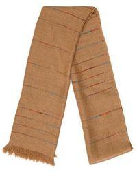 Etro - Frayed Knit Scarf Tan - Lyst