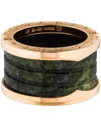 bvlgari green marble bzero1 ring rose lyst