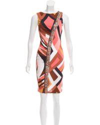Emilio Pucci - Embellished Printed Dress - Lyst