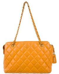 Chanel - Caviar Quilted Shoulder Bag Gold - Lyst