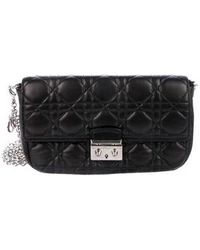 4d45b0ec81e6 Lyst - Dior Miss Badges Promenade Pouch Black in Metallic