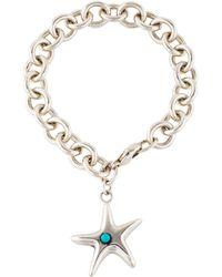 Tiffany & Co. - Turquoise Starfish Charm Bracelet Silver - Lyst