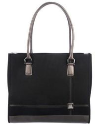 Diane von Furstenberg - Leather-trimmed Canvas Tote Black - Lyst