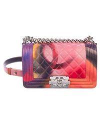 Chanel - Summer Small Flower Power Boy Bag Pink - Lyst