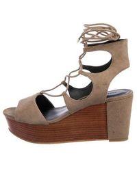 Rebecca Minkoff - Suede Wedge Sandals - Lyst
