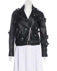 Sandy Liang - Leather Biker Jacket - Lyst