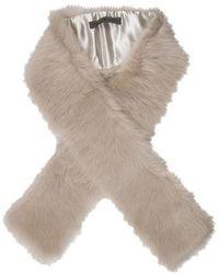 Pologeorgis - Lamb Fur Stole Grey - Lyst