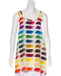 Chanel - Silk Colorama Top - Lyst