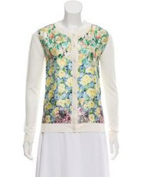 Nina Ricci - Silk Button-up Cardigan Multicolor - Lyst