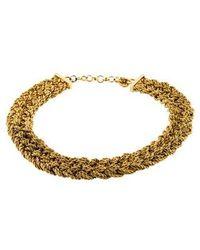 Dior - Braided Collar Necklace Gold - Lyst