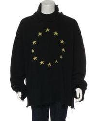 Vetements - 2018 Distressed Oversized Turtleneck Sweater Black - Lyst
