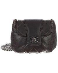 Chanel - Glazed Calfskin Quilted Paris Dallas Mini Flap Bag Black - Lyst b7eff6d0fe520