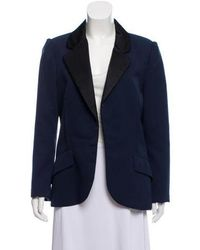 Marc Jacobs - Wool Open Blazer Navy - Lyst