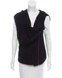 Helmut - Sleeveless Knit Cardigan Navy - Lyst