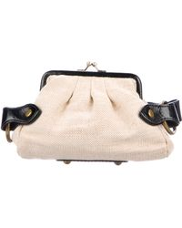By Malene Birger - Leather-trimmed Martie Pouch Natural - Lyst