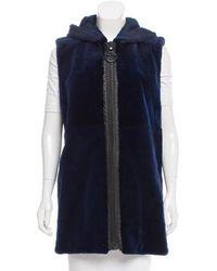 Helen Yarmak International - Hooded Fur Vest - Lyst