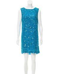 Marchesa notte - Embellished Silk Dress - Lyst