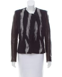 Roberto Cavalli - Leather-accented Wool-alpaca Jacket W/ Tags Black - Lyst