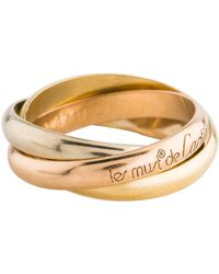 Cartier - Les Must De Trinity Ring Yellow - Lyst