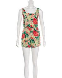 Alice + Olivia - Printed Sleeveless Romper - Lyst