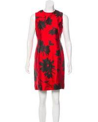 Michael Kors - Printed Sleeveless Dress - Lyst