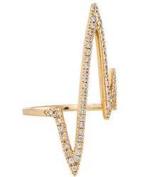 Jennifer Fisher - 14k Pavé Diamond Pulse Bar Ring Yellow - Lyst