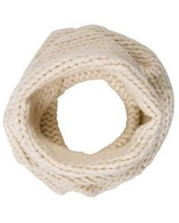 Helmut Lang - Rib Knit Infinity Scarf Neutrals - Lyst
