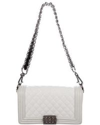 Chanel - Paris-bombay Medium Boy Bag White - Lyst