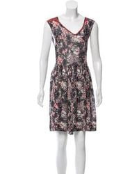 Étoile Isabel Marant - Sleeveless Floral Dress Grey - Lyst