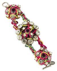 Erickson Beamon - Faux Pearl & Crystal Bracelet Silver - Lyst