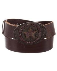 Just Cavalli - Embellished Leather Belt - Lyst