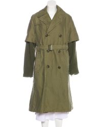 NLST - Double-breasted Belted Coat - Lyst