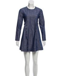 Piamita - Ruffle-accented Chambray Dress W/ Tags - Lyst