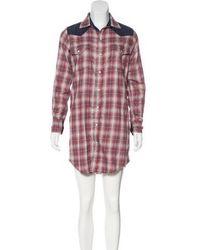 Current/Elliott - Flannel Mini Dress - Lyst