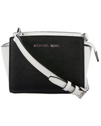 27d345a82158 MICHAEL Michael Kors - Michael Kors Mini Selma Crossbody Bag Black - Lyst