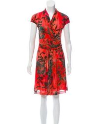eb671d5a4cc Lyst - Cacharel Printed Halter Dress in Red